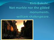 NOR MARBLE NOR THE GILDED MONUMENTS.....(SONNET 55)