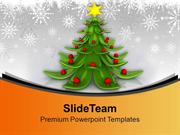 Innovative Christmas Tree Decoration PowerPoint Templates PPT Backgrou