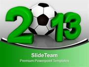New Year 2013 Symbol Football Cup PowerPoint Templates PPT Backgrounds