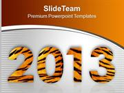 New Year Decorative Illustration PowerPoint Templates PPT Backgrounds