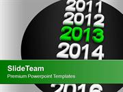New Year Holidays 2013 Celebration Party PowerPoint Templates PPT Back