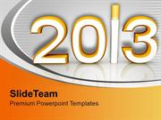 New Year Resolution 2013 Celebration Time PowerPoint Templates PPT Bac
