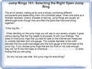 Jump Rings 101: Selecting the Right Open Jump Ring