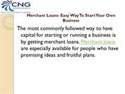 Merchant Loans – Easy Way to Start Your Own Business