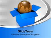 Globe In Opened Box Business PowerPoint Templates PPT Themes And Graph