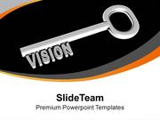 Vision Silver Key Communication PowerPoint Templates PPT Themes And Gr
