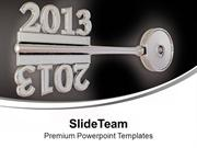 2013 On Grey Key New Symbol Security PowerPoint Templates PPT Backgrou