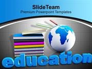 Book And Mini Global Education Global Issues PowerPoint Templates PPT