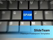 Computer Keyboard With Spam Unwanted Mails PowerPoint Templates PPT Ba