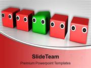 Difference Individuality Leader Unique Dices PowerPoint Templates PPT