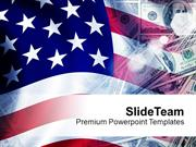 Dollars Flag Background American PowerPoint Templates PPT Backgrounds