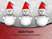 Snowman Christmas Cartoon Character PowerPoint Templates PPT Themes An