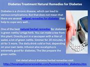 Diabetes Treatment Natural Remedies for Diabetes