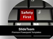 Keyboard With Safety First Security PowerPoint Templates PPT Backgroun