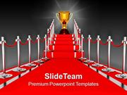 Red Carpet Award Ceremony PowerPoint Templates PPT Backgrounds For Sli