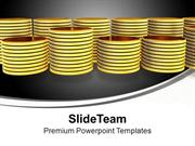 Stack Of Gold Coins Finance PowerPoint Templates PPT Backgrounds For S