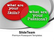 Venn Diagram Of Skills And Passions PowerPoint Templates PPT Backgroun