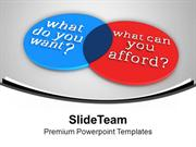 Venn Diagram Of Want And Afford PowerPoint Templates PPT Backgrounds F