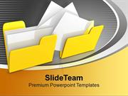 Yellow Copy And Paste Folders Computer PowerPoint Templates PPT Backgr