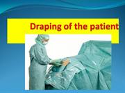 Draping of the patient