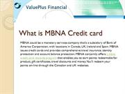 What is MBNA Credit card
