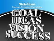 Goal Ideas Vision Success Business Marketing PowerPoint Templates PPT
