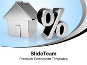 House And Percent Symbol Image Percent PowerPoint Templates PPT Themes