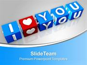 I Love You Couple Valentine Lifestyle PowerPoint Templates PPT Themes