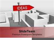 Ideas Concept With Confused Path Signboard PowerPoint Templates PPT Th
