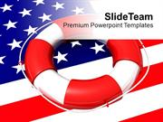 Usa Lifeguard On Flag Saving Life Future PowerPoint Templates PPT Them