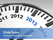 Year 2013 On Wall Clock New Year Celebration PowerPoint Templates PPT