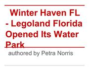 Winter Haven FL - Legoland Florida Opened Its Water Park