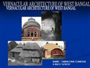 VERNACULAR ARCHITECTURE OF WEST BANGAL