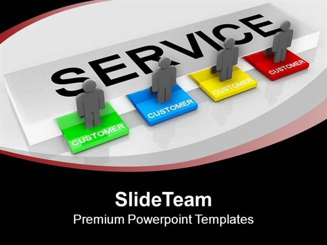 customer service concept communication powerpoint templates ppt ba