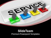 Customer Service Concept Communication PowerPoint Templates PPT Backgr