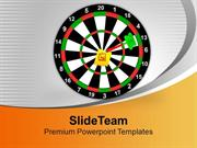 Dart Hit The Target House Achievement Business PowerPoint Templates PP