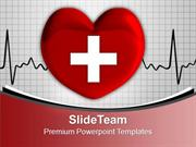 Heart With Cross Sign Medical PowerPoint Templates PPT Backgrounds For