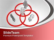 Networking People Stand In Venn Diagram PowerPoint Templates PPT Backg