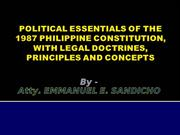 Political and Constitutional Law