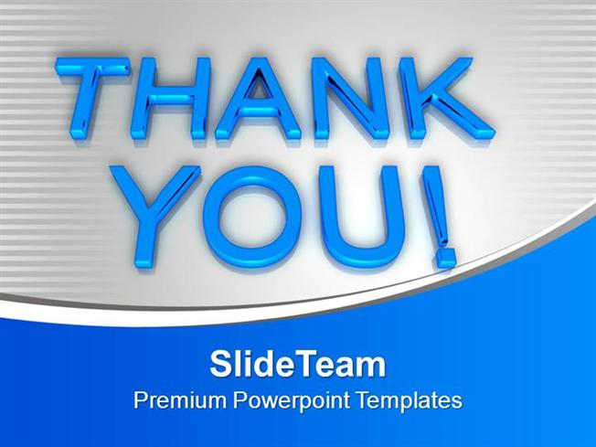 Thank You Metaphor Powerpoint Templates Ppt Backgrounds For Slides
