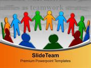 United People Teamwork Concept PowerPoint Templates PPT Backgrounds Fo