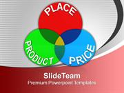 Venn Diagram Of Place Product Price Marketing PowerPoint Templates PPT