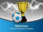 Winner Of Football Game PowerPoint Templates PPT Backgrounds For Slide