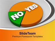 Yes And No Pie Marketing PowerPoint Templates PPT Backgrounds For Slid