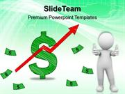 powerpoint for business templates dollar up arrow graph finance ppt th