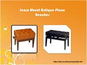 Learn About Antique Piano Benches