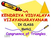 1-9th-Congruence of Triangles