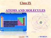 9th ATOMS AND MOLECULES