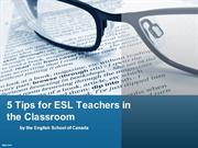 5 Tips for ESL Teachers in the Classroom