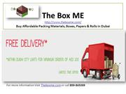 Buy Packing Materials, Boxes, Papers & Rolls with free delivery